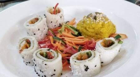 millet sushi, sushi recipes, easy sushi recipes, easy millet recipes