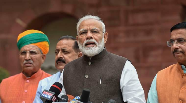 17th lok sabha, Narendra Modi, Modi in Lok Sabha, Parliament, Budget Session, Opposition, Modi on Opposition, BJP, Congress, Lok Sabha speaker, India news, Indian Express