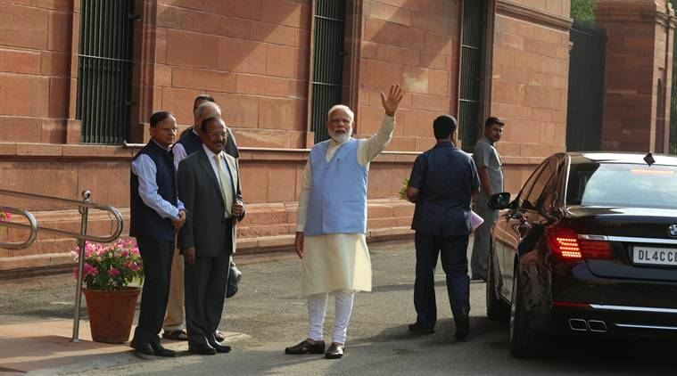 prime minister narendra modi new ministers take charge, cabinet meeting