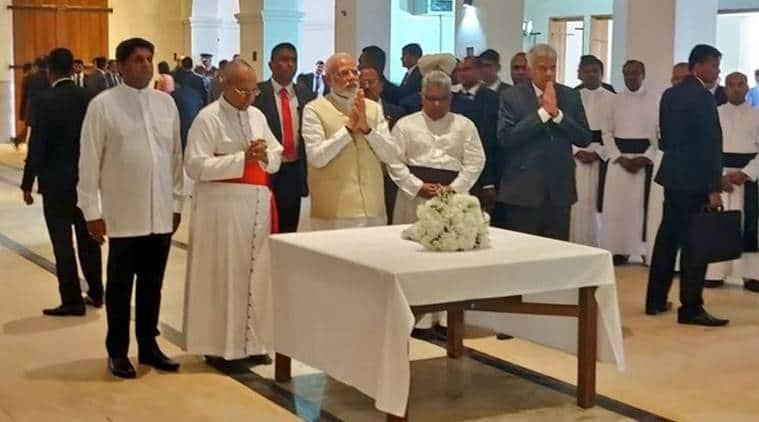 Narendra Modi, Modi Sri Lanka, Modi SriLanka live, Modi in Sri lanka, live updates, Maitripala Sirisena, Modi meets sirisena, India Sri Lanka relations, Indian Ocean, India News, Modi Sri Lanka visit, Indian Express