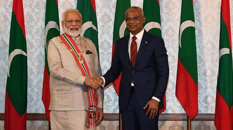 PM Modi, Modi in Maldives, Modi Solih, ibrahim solih, Modi solih meet, ferry service, India maldives ferry service, bilateral visit, indian express