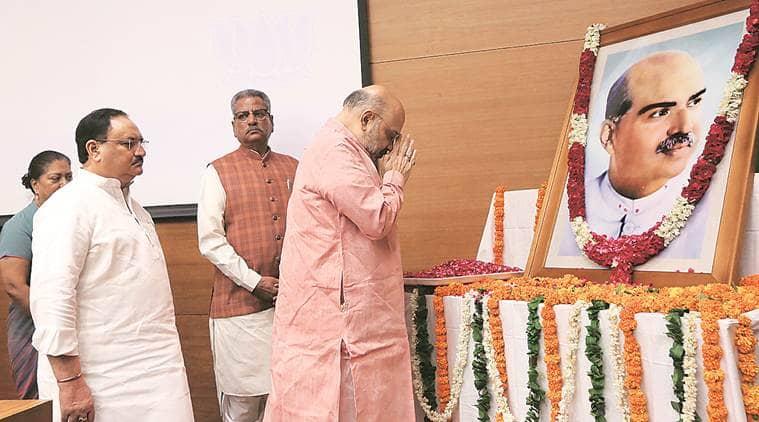 JP nadda, syama prasad mookerjee, Syama Prasad Mookerjee anniversary, Syama Prasad Mookerjee death, amit shah, amit shah on syama prasad mookerjee, Jawaharlal nehru, Indian express
