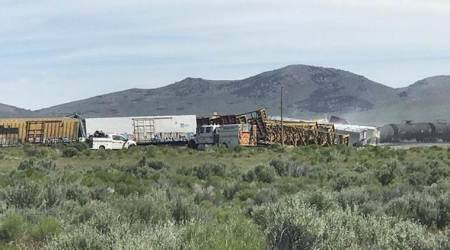 nevada train derail, utah train derail train derail on nevada utah line, nevada utah train line, nevada utah line, nevada train derailment, utah train derailment, world news, Indian Express