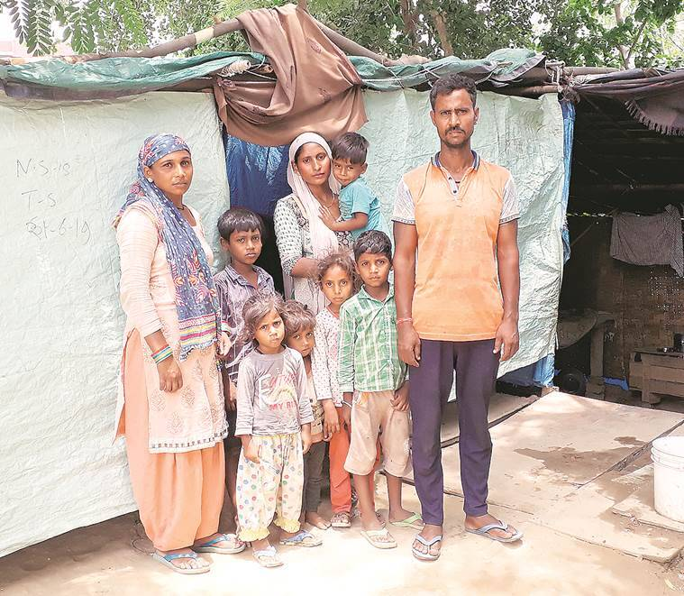 wall collapse death, ditch wall collapse, labourer, labourer children danger, dangers faced by labourers, noida wall collapse death, indian express