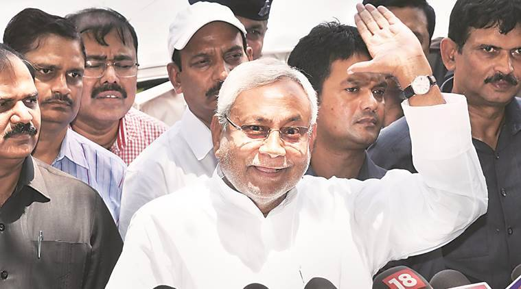 Nitish Kumar, Nitish Kumar rally, Nitish Kumar Jal Jivan and Hariyali yatra, Bihar govt schemes, indian express