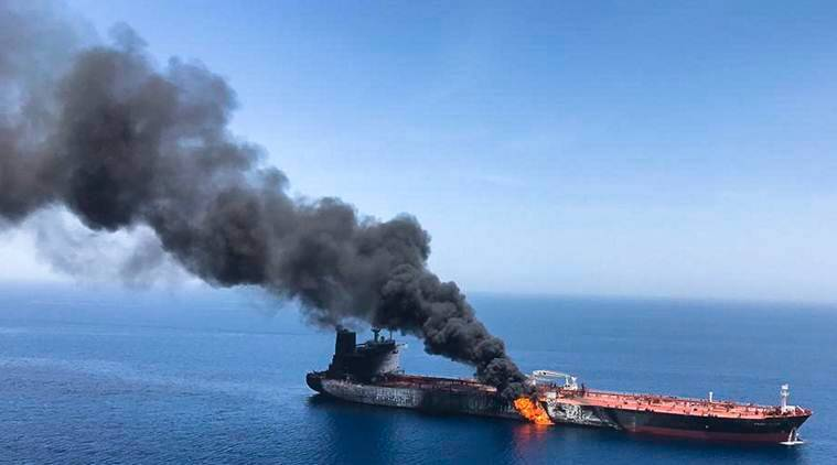 Tanker attacks, Gulf of Oman tanker attacks, Gulf of Oman, US-Iran conflict, Iran nuclear deal, wang Yi, China-US conflict, World news, Indian Express news,