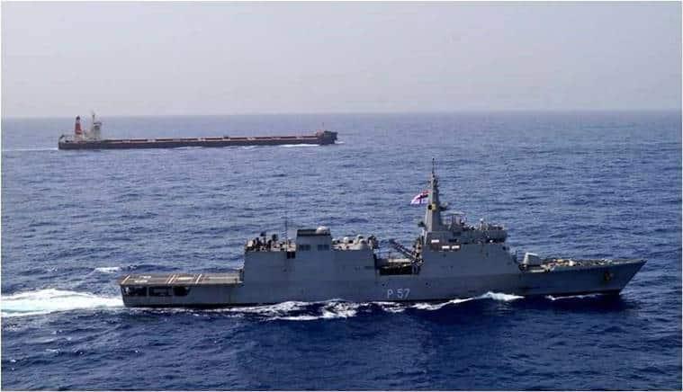 Indian Navy, US Iran conflict, Gulf of Oman, Hormuz Strait, Donald Trump, Hassan Rouhani, Operation Sankalp, Navy Operation Sankalp, India News, Indian Express