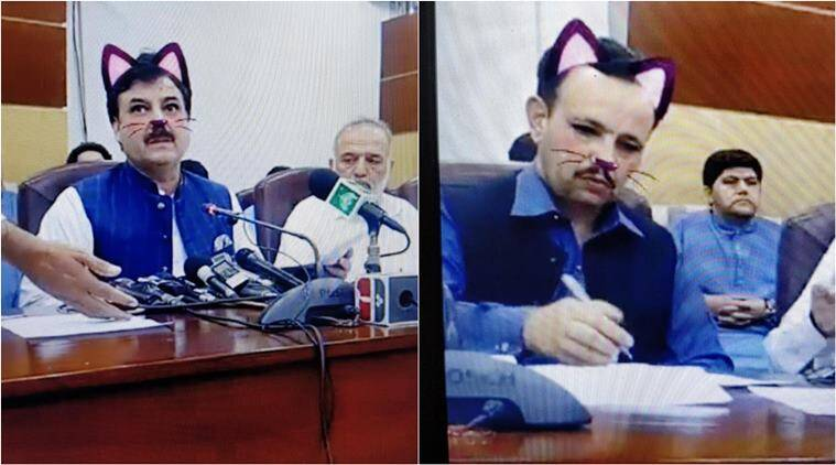 Pakistan govt accidentally turns 'cat' filter on during FB Live, leaves everyone in splits