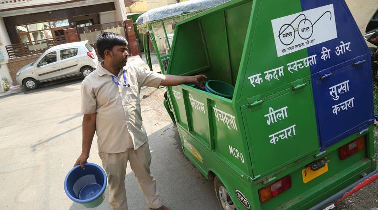 panchkula news, waste management, Panchkula Municipal Corporation, swachh bharat, clean india, india news, indian express