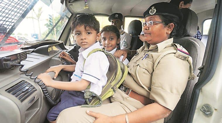 vadodara, vadodara news, vadodara police crackdown vadodara vehicles crackdown, vadoara schoolbus accident, schoolbus accident