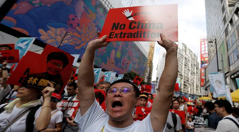 Hong Kong, Hong Kong protests, Extradition bill with China,Hong Kong protests against extradition bill, Scrap China, Hong Kong bill,Hong Kong Government,China Extradition Bill, China Government,Hong Kong police, World News, Indian Express