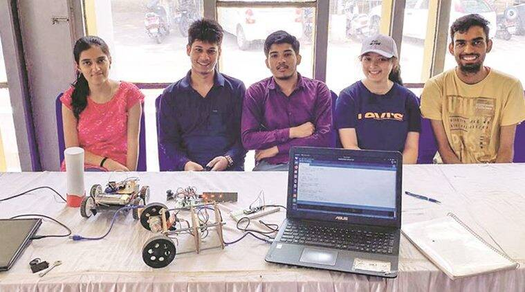 Image result for Ingenious engineers of Panjab University during the exhibition in Law Auditorium.
