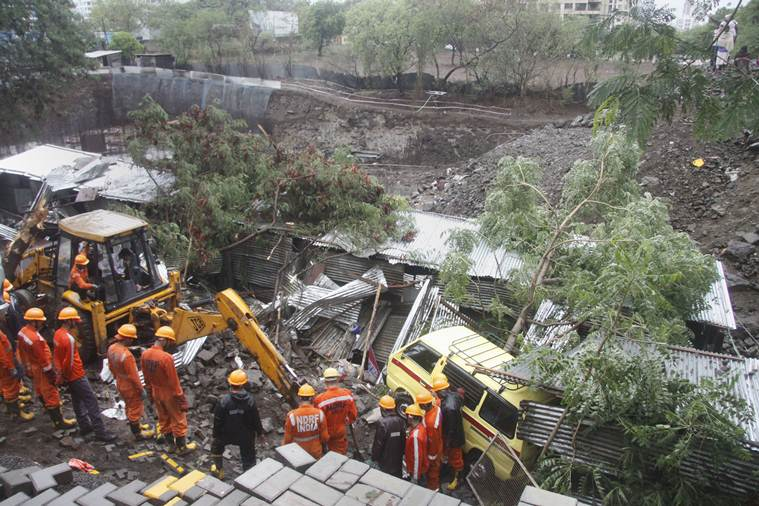 Pune wall collapse, Pune, Pune construction workers dead, Pune wall collapse dead, Pune accident, pune news