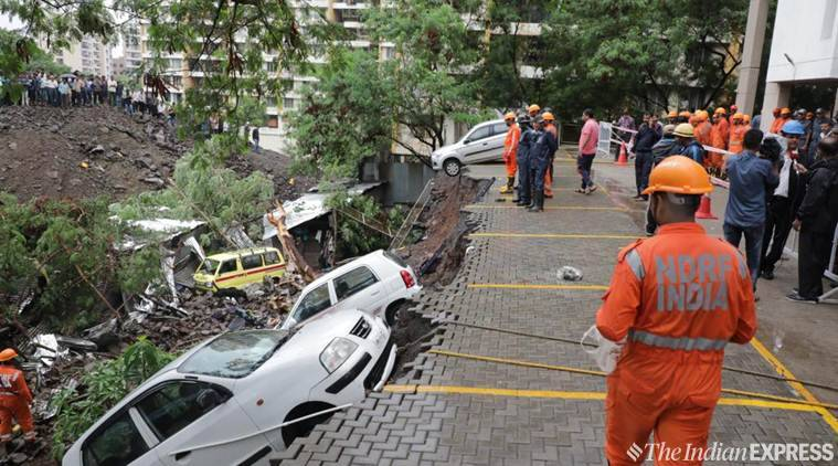 Wall collapses due to rain in pune, pune wall collapse, pune news, kondhwa wall collapse