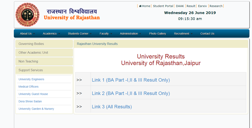 uniraj result, b a 1 year result 2019 rajasthan university, ba 2 year result 2019 uniraj roll no, bsc result 2019 rajasthan,, uniraj, uniraj results,