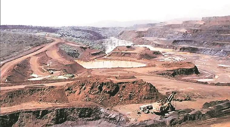 ultratech cement, illegal filling up of limestone mines, talaja, cement firm, indian express