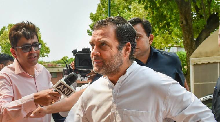 rahul gandhi, rahul gandhi congress president, rahul gandhi congress chief, congress party meeting, rahul gandhi quits as congress chief, congress lok sabha elections, Indian express