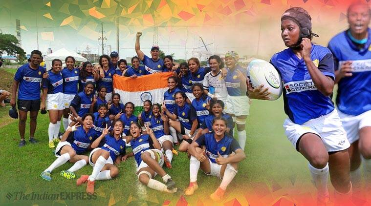 rugby, rugby india, women's rugby team, india, India wins, Asia Rugby Championships, india women team, team india. trending. twitter reactions, indian express, indian express news