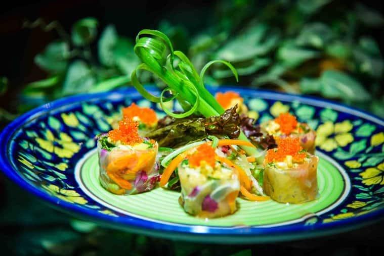 salmon and avocado summer rolls, Vietnamese recipe, delicious recipe, indian express, indian express news
