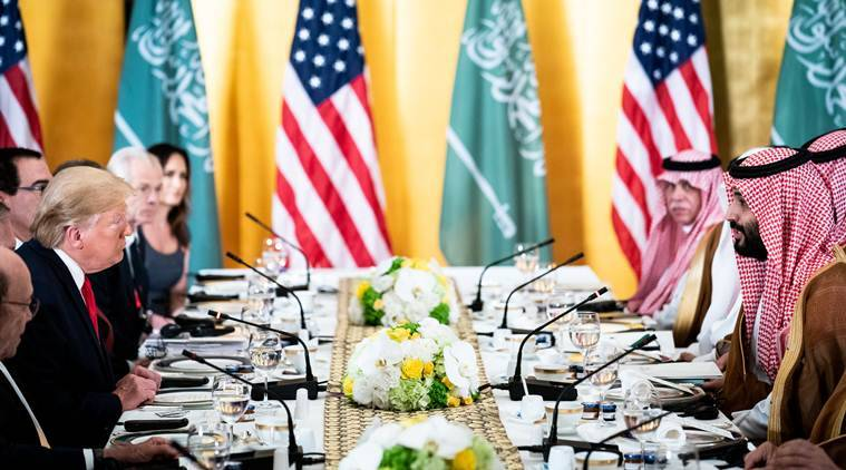 Donald Trump, Crown Prince Mohammed bin Salman of Saudi Arabia, G20 Summit, Japan G20 Summit, United Nations, US-Saudi Arabia, US-Saudi Arabia relations, World news, Indian Express news