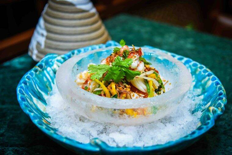 summer seafood salad, summer salad, Vietnamese dishes, indain express, indian express food
