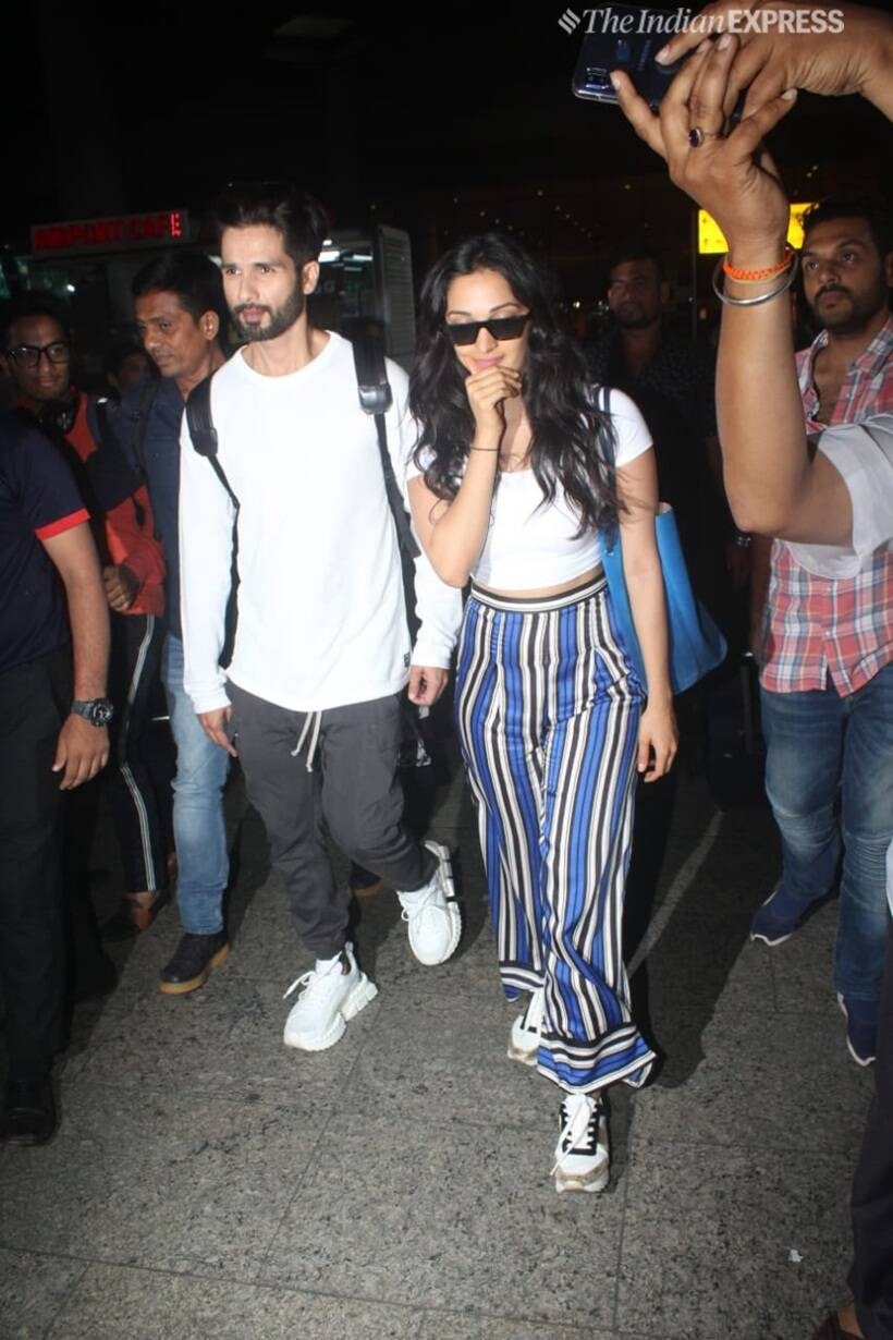 shahid kapoor and kiara advani in mumbai