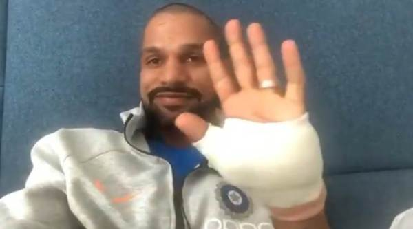 Shikhar Dhawan posted a video message and said-show must go on.