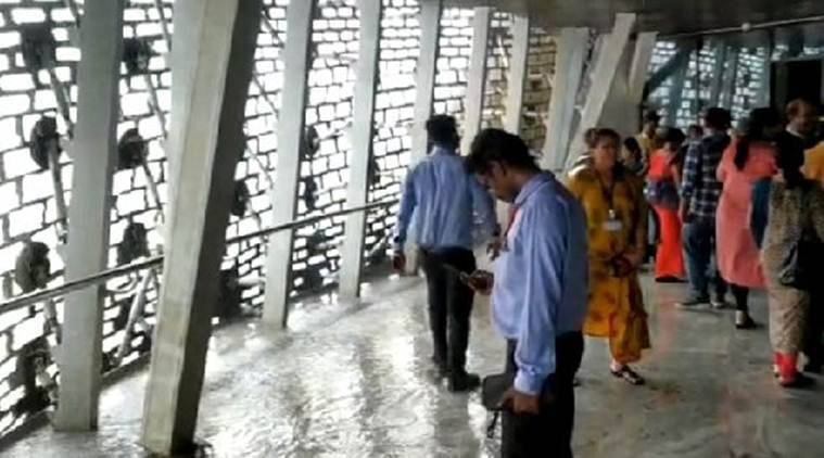 Watch: Puddles, dripping ceiling at viewing gallery of Gujarat's Statue of Unity