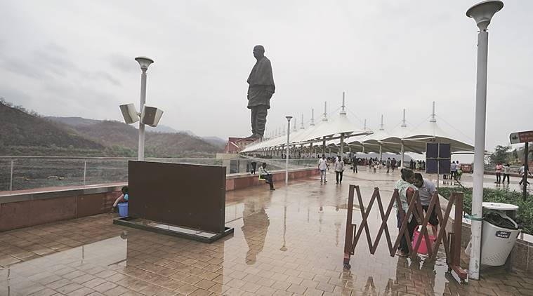 statue of unity, gujarat accident, statue of unity accident, bus accident, statue of unity tourists, Indian Express