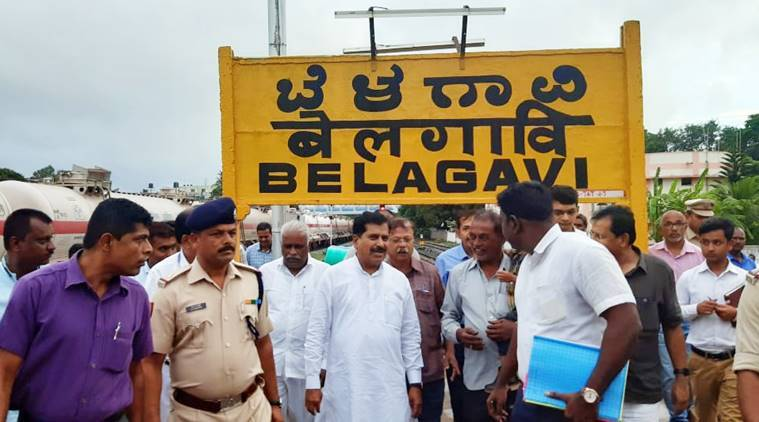 Suresh-Angadi-inspection-surprise-Belagavi-railway-station