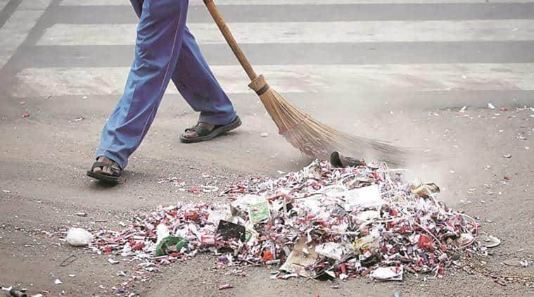 sweeper assualt at panchkula for refusing to work, sweeper assualt at panchkula, SP Rajesh Kalia accused of assualting a sweeper, indian express