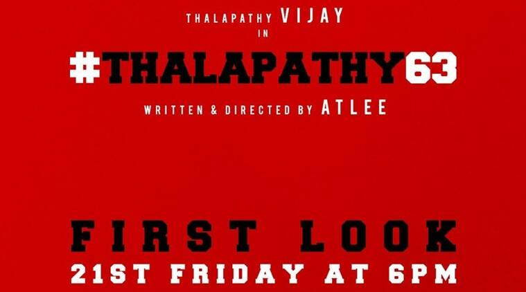 Thalapathy 63 title and first look release LIVE UPDATES