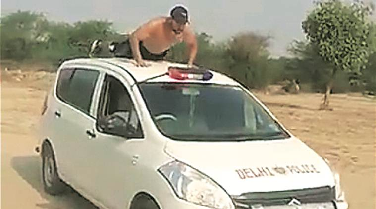 Probe after TikTok video shows man's stunt on 'cop car'