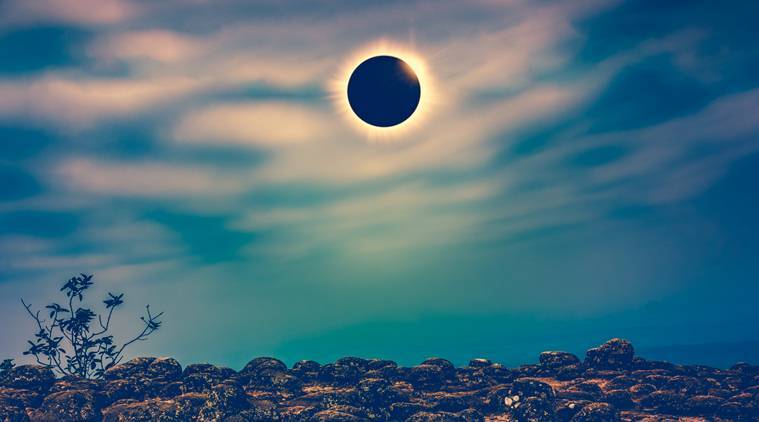 Surya Grahan or Solar Eclipse 2019 India During a solar eclipse the Moon actually casts two shadows towards Earth