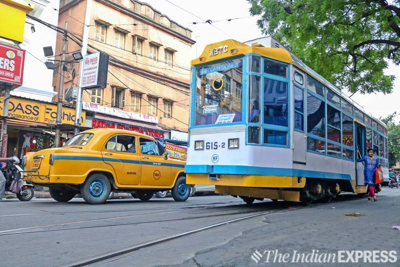 kolkata tram, kolkata tram makeover, kolkata tram transformation photos, calcutta tramways company, shyambazaar, esplanade, kolkata news, indian express