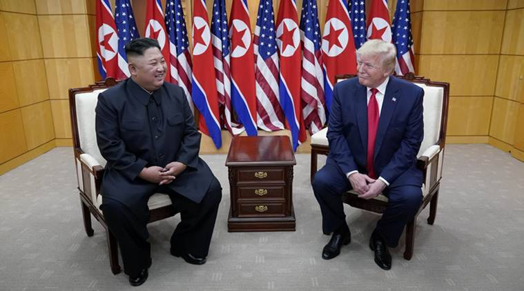donald trump, us president donald trump, kim jong un, donald trump kim jong un meeting, trump kim meeting, trump-kim meeting, trump-kim meet, north korea, us, world news, Indian Express