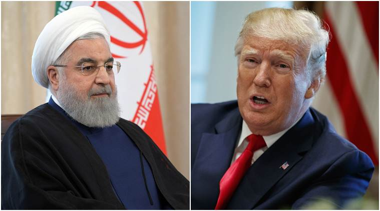 donald trump, hassan rouhani, iran, us, tehran, uranium enrichment, middle east, military troops, world news, indian express