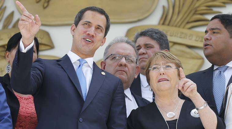 un human rights high commissioner, Michelle Bachelet, venezuela president, President Juan Guaido, Maduro, indian express