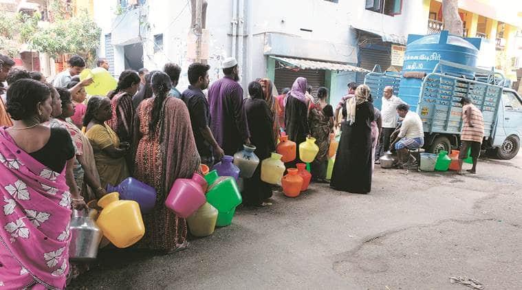 chennai water crisis, tamil nadu water crisis, water crisis in tamil nadu, water crisis, water crisis in chennai, water crisis, chennai water shortage, india news, Indian Express