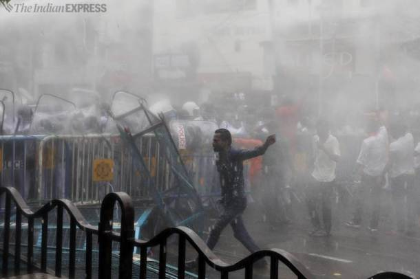 NRS hospital kolkata west bengal, bengal protests, bengal BJP protest, BJP protest in Bengal, Bengal clashes, Bengal violence, bengal news, Indian Express