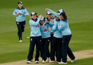 Fran Wilson pulls off brilliant catch during England's drubbing of West Indies