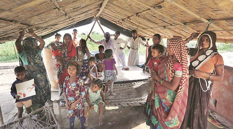 At thousands of homes along the Yamuna, no option but to wait for the water to rise