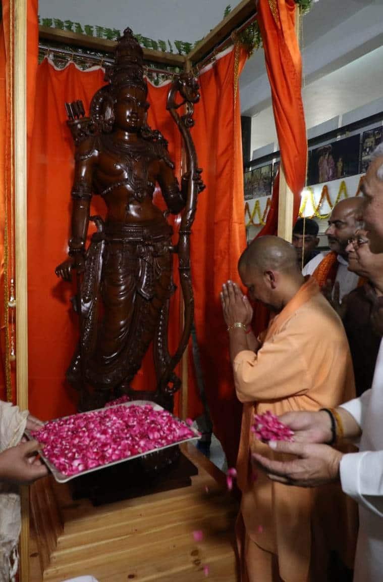yogi adityanath, uttar pradesh chief minister, uttar pradesh chief minister yogi adityanath, up cm yogi adityanath, ayodhya, ram statue ayodhya, ayodhya ram statue, india news, Indian Express
