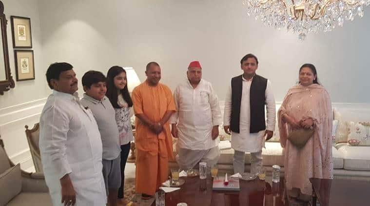 Yogi Adityanath visits Mulayam after SP leader returns from hospital