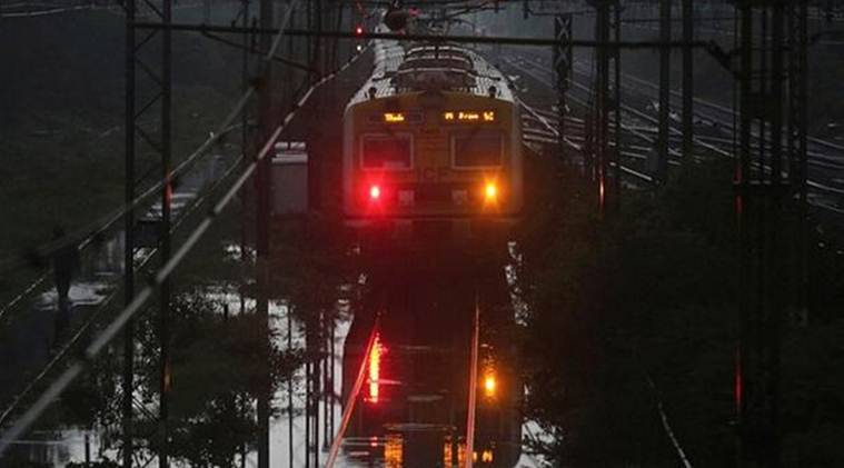 Mumbai, Mumbai news, Mumbai rains, train services halted, CR services suspended, CR services halted, CR services halted due to rain, Western railways, western railways runs ahead of time, Indian express news