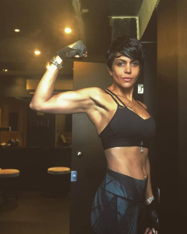 mandira bedi workout photos