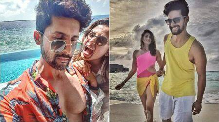 Sargun Mehta and Ravi Dubey in Maldives