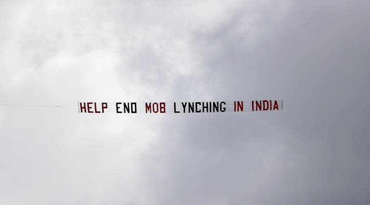 bcci, icc, aircraft world cup, mob lynching slogan, aircraft slogan world cup, cricket world cup, world cup 2019, india vs sri lanka, ind vs sl, cricket news, sports news, indian express