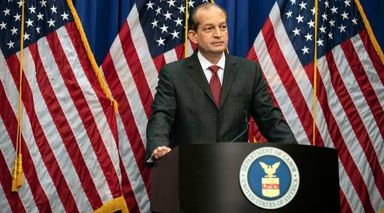 US Labor Secretary defends plea deal for Jeffrey Epstein, citing a different era