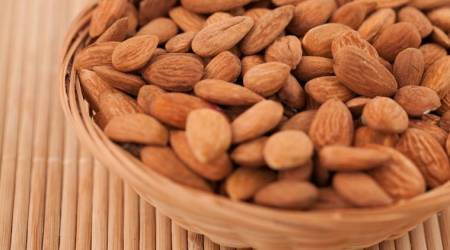 almonds, healthy food, healthy snack option, indian express, indian express news